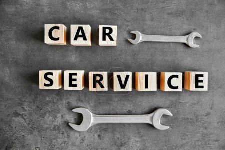 Cubes with words CAR SERVICE