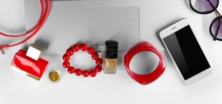 laptop and women accessories
