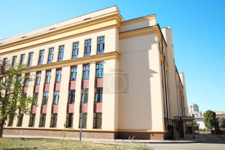 Photo for Exterior of modern school building - Royalty Free Image