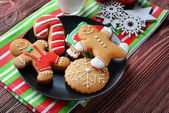 Composition of tasty Christmas cookies