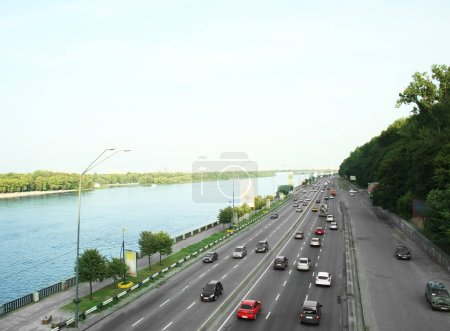 View of road with cars