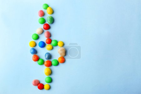 Treble clef made of candies