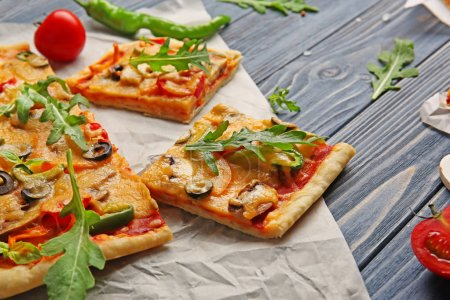 Delicious pizza slices