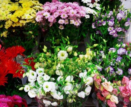 Fresh flowers on display
