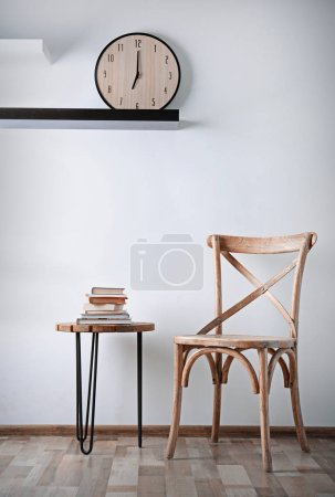 Simple interior with chair and decorations