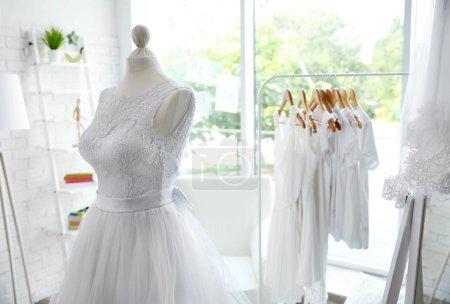 Made-up wedding dress