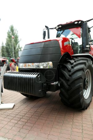 Heavy equipment on agricultural exhibition