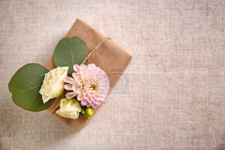 Handcrafted gift box with flowers