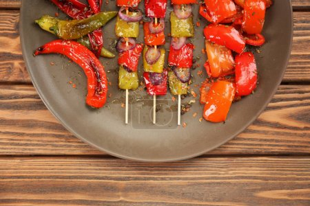 Grilled bell pepper on plate