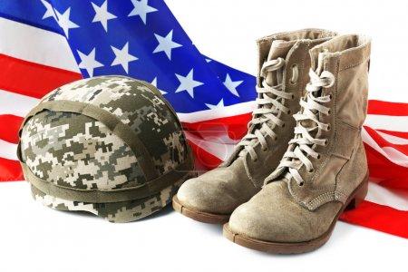 Pair of combat boots