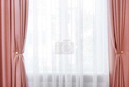 Room window with curtains