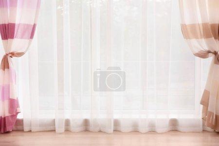 elegant curtain on window