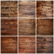 Collage of different wooden textures...