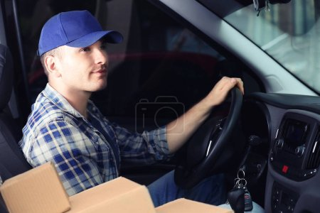 Young male deliverer