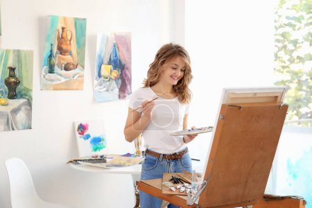 Young female artist