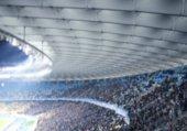 Fans watching football game at stadium
