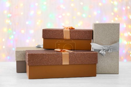 Boxes with Christmas presents
