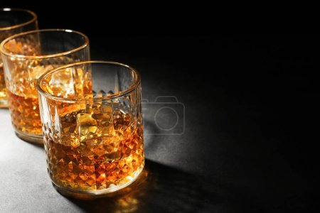 Glasses of luxury whisky