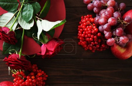 Flowers and berries for composition