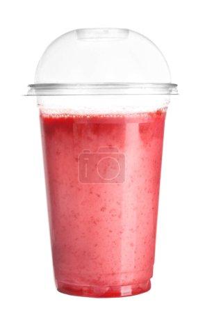 milkshake in plastic cup