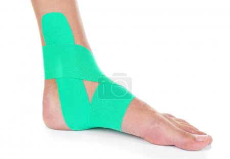 foot with physio tape