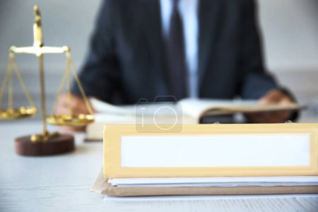 Folder on lawyer table