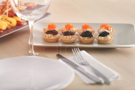 Tray with tasty tartlets