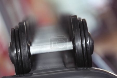 Different dumbbells  in gym