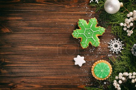 gingerbread cookies and Christmas decor