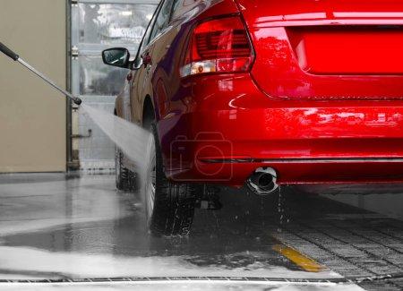 Car at wash station