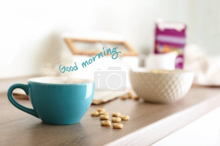 Text GOOD MORNING