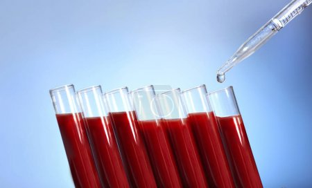 Test tubes filled with blood