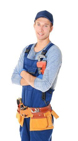 young handsome plumber