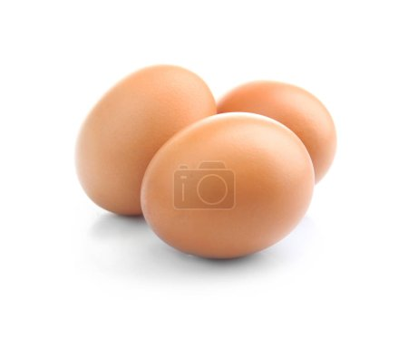 Photo for Brown eggs isolated on white - Royalty Free Image