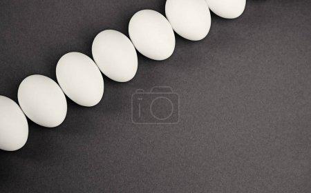 White eggs on grey
