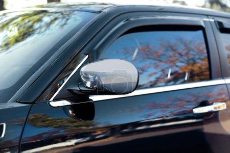 Mirror of luxury car