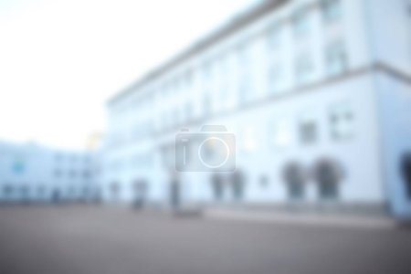 Photo for Blurred view of modern school building - Royalty Free Image
