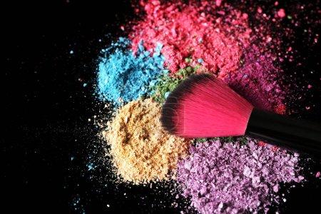 Make up brush and eye shadows