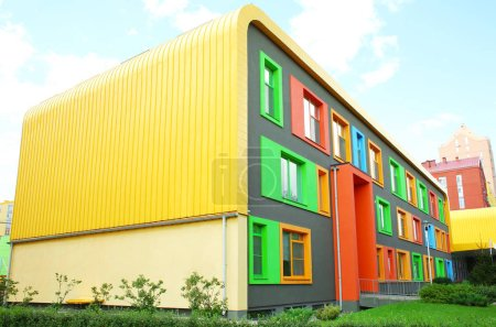 Modern colorful buildings