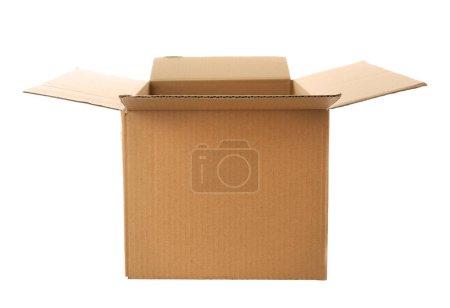 Photo for Opened carton box isolated on white - Royalty Free Image