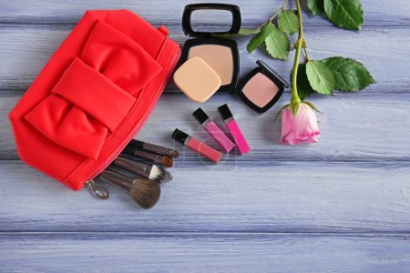 Cosmetic bag and makeup products