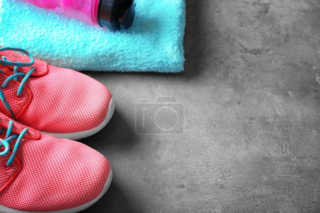 Sport shoes on table