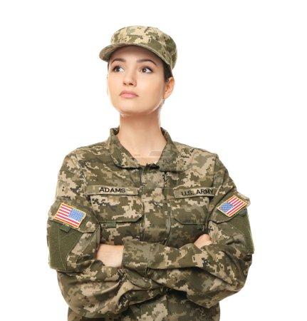 Pretty female soldier