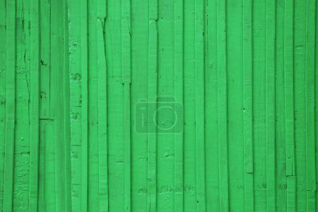 Old green wooden surface