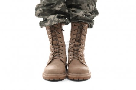 Feet of soldier, close up