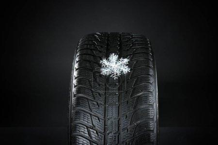 Rubber winter tire