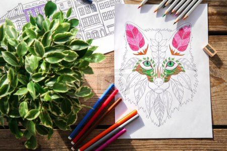 Composition of colouring pictures