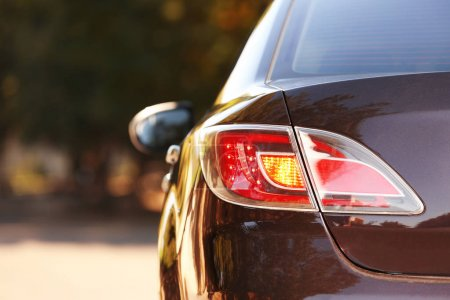 Photo for Car rear lights, closeup - Royalty Free Image