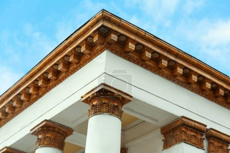 building with columns in neoclassical style