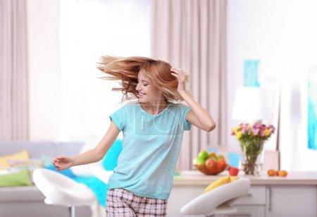 young woman dancing
